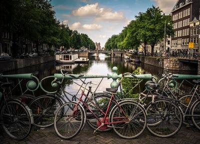 Viajar por Europa en bici: Ámsterdam