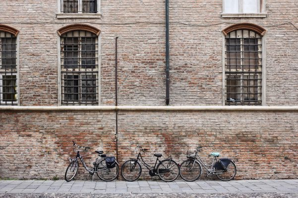 Viajar por Europa en bici: Ferrara